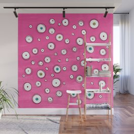 All Eyes on You Pink Wall Mural