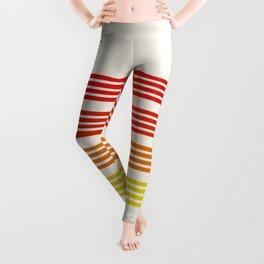 Tadaharu - Reddish Retro Stripes Leggings