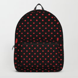 Black With Red Dots Backpack