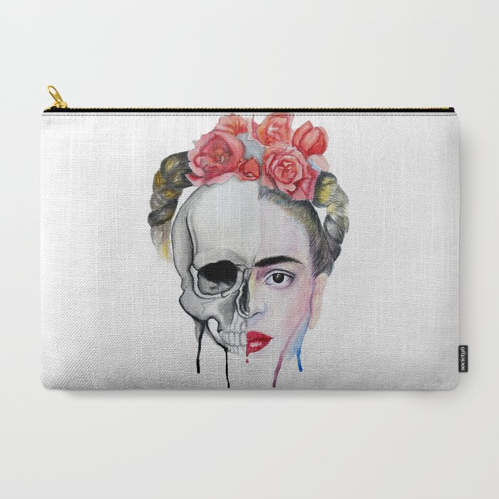 Frida_Kahlo_CarryAll_Pouch_by_Karol_Gallegos_Carrera__Large_125_x_85