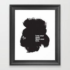 Paint (Black) Framed Art Print