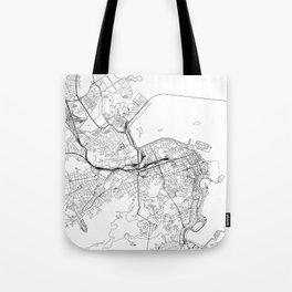 Rio De Janeiro White Map Tote Bag