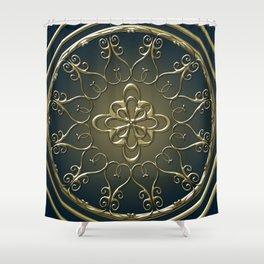 Golden Nemo Pattern Shower Curtain