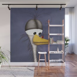 Ernie the Naked Egret and his Visitors Wall Mural
