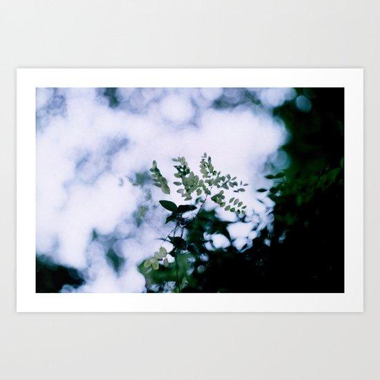 Green Bokeh Art Print