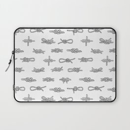knots pattern sailing nautical knot tying illustration coastal decor Laptop Sleeve