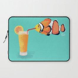 The Clown Fish Drinks Laptop Sleeve