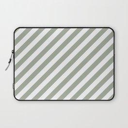 Desert Sage Grey Green Candy Cane Stripes Laptop Sleeve