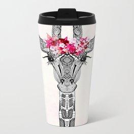 FLOWER GIRL GIRAFFE Metal Travel Mug