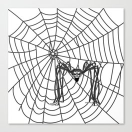 web with spider, spideypool, hegre prints illustration is inspired ... Home Decor Graphicdesign Canvas Print