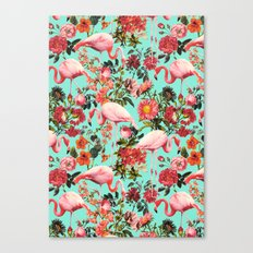 Floral and Flemingo IV Pattern Canvas Print
