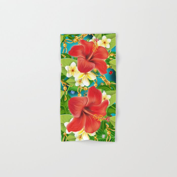 tropical color party  Hand & Bath Towel