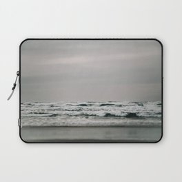 Waves Crashing on Cannon Beach Oregon Laptop Sleeve