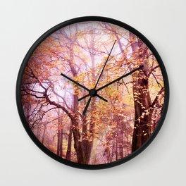 fall colors Wall Clock