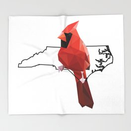 North Carolina – Northern Cardinal Throw Blanket