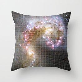 Pixel Nebula Throw Pillow
