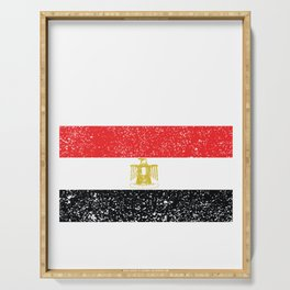 Egyptian National Flag Vintage Egypt Country Gift Serving Tray
