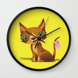 The Great Gold Meow Wall Clock