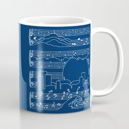 The Moonlight Sonata Blue Coffee Mug