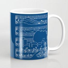 The Moonlight Sonata Blue Coffee Mug
