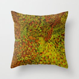 Autumn Field Watercolor Throw Pillow