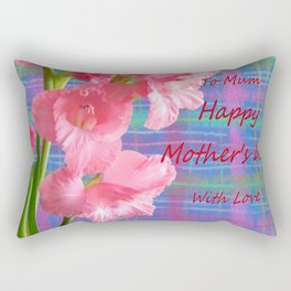 Pink Gladiolus - Mother's Day Rectangular Pillow