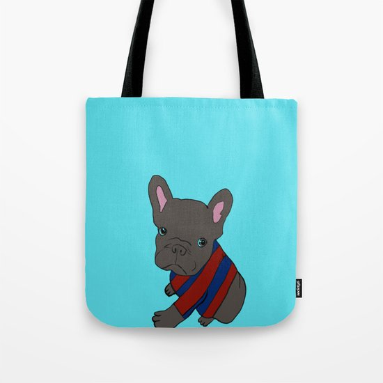 French Bull Dog Puppy in a Sweater Tote Bag