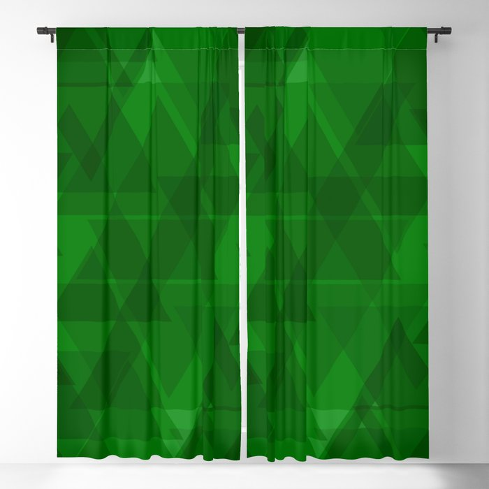 Bright green triangles in intersection and overlay. Blackout Curtain