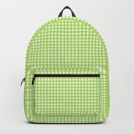 Farmhouse Gingham in Light Green Backpack