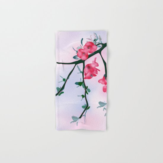 Cherry Blossom Design Hand & Bath Towel