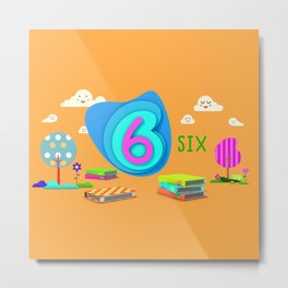 Number six - Kids Art Metal Print