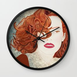 Jessica Chastain Wall Clock