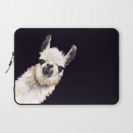 Sneaky Llama in Black Laptop Sleeve