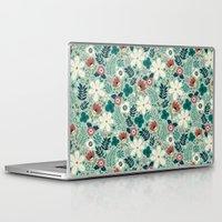 garden Laptop & iPad Skins featuring Flower Garden by Anna Deegan