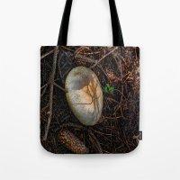 mushroom Tote Bags featuring Mushroom by Christia Caldwell Moody