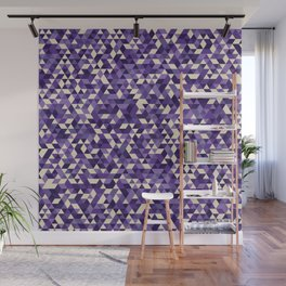 Purple Triangles Wall Mural