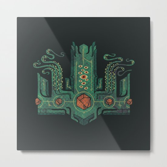 The Crown of Cthulhu Metal Print