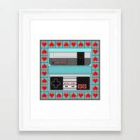 video game Framed Art Prints featuring Video Game Lover : NES by The Geek Inside Me