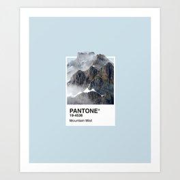 Pantone Series – Mountain Mist Art Print