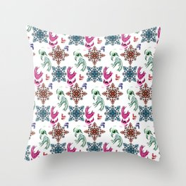 Aquarium pattern Throw Pillow