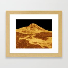 A Venusian Landscape Framed Art Print