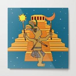 MayanPop Metal Print