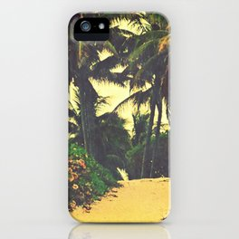 Palm Tree Path iPhone Case
