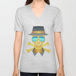 Skull Skeleton Unisex V-Neck
