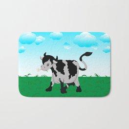 Cow on a meadow Bath Mat