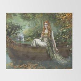 Lady of the Rhine Throw Blanket