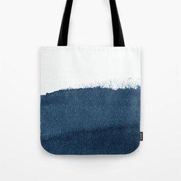 Indigo Art / Minimal Navy Print Tote Bag