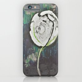 Golden Rose Acrylic Icey Green Mint Chocolate Chip iPhone Case