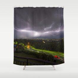 Summer Storm Over Brisbane Shower Curtain