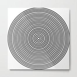Ever Decreasing Circles Metal Print